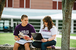 Photo of students studying outside. Link to What to Give.