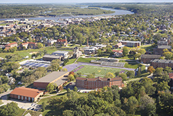 Photo of aerial view of campus. Link to Gifts That Protect Your Assets.