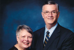 Photo of Suzanne and Mike Blouin ('66). Link to their story.